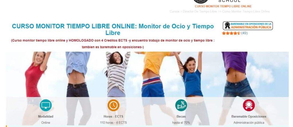 Curso monitor tiempo libre online Euroinnova