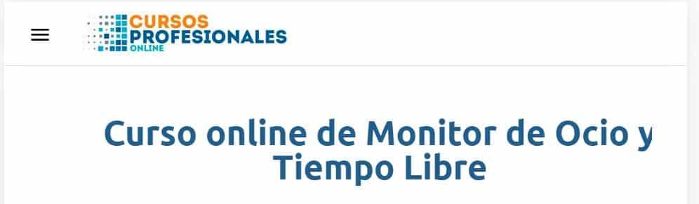 Curso online de Monitor de Ocio y Tiempo Libre Cursos Profesionales
