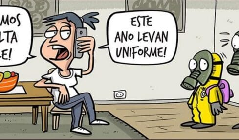 Meme uniforme covid