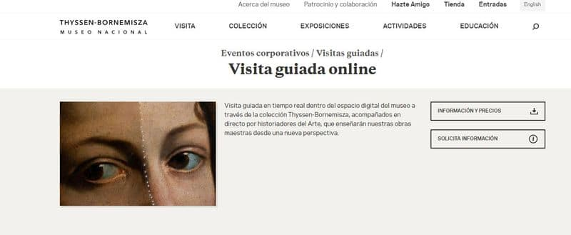visita guiada online Museo Thyssen-Bornemisza Microsoft Teams