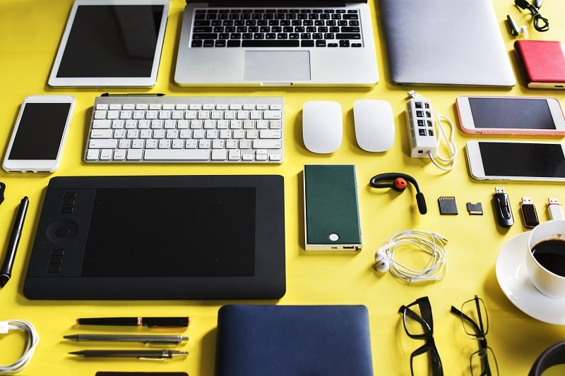 Dispositivos o gadgets Día mundial del docente