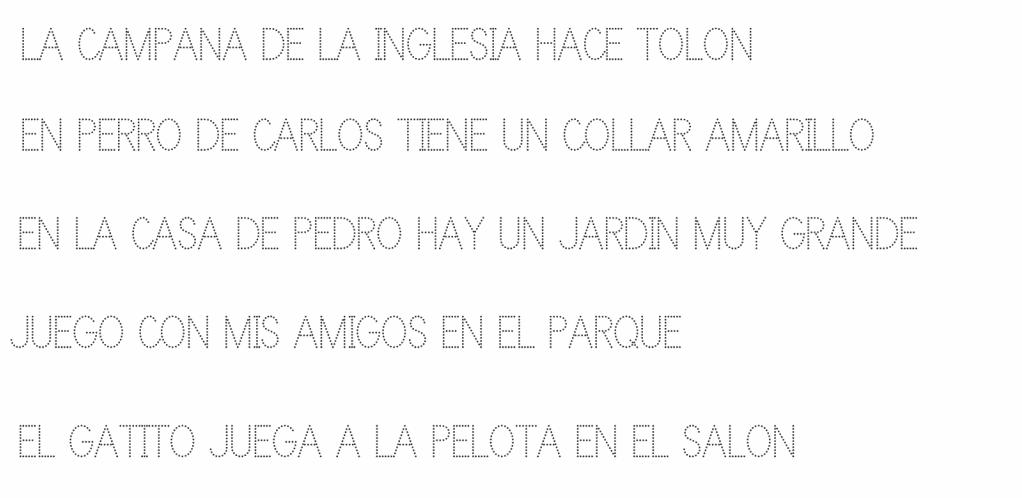 ejercicios de caligrafía