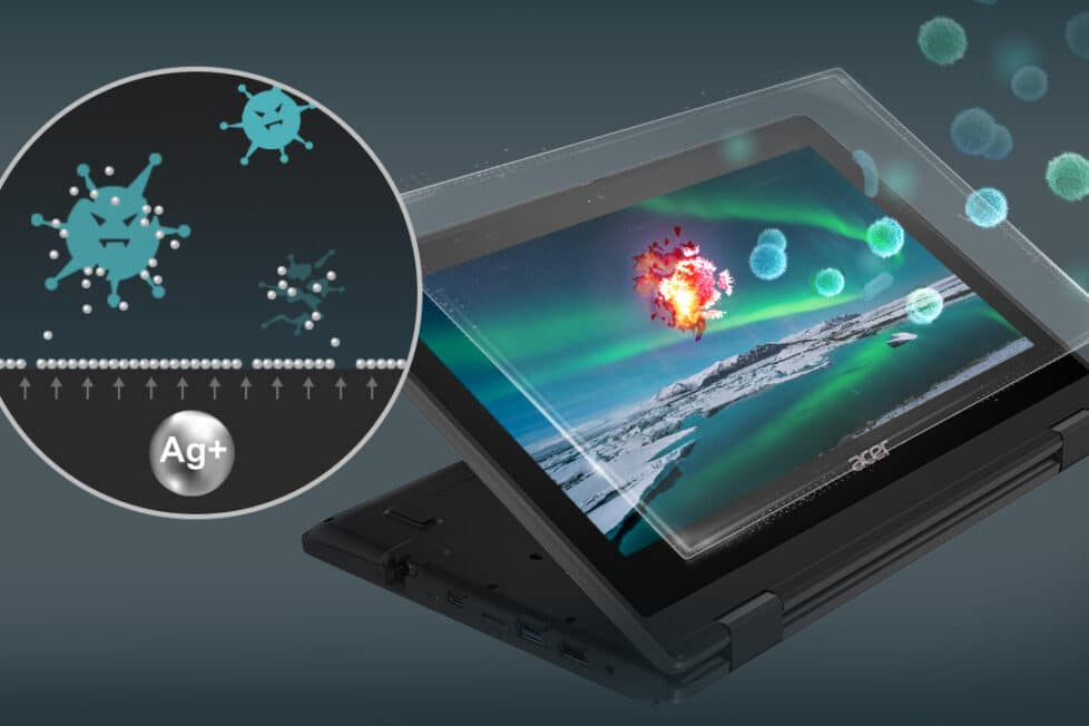 portátiles a prueba de microbios