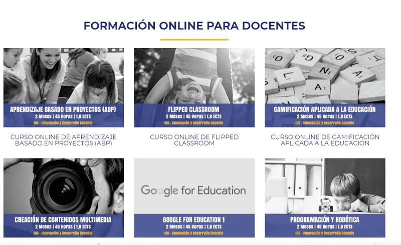 Cursos homologados de Innovación y Desarrollo Docente - formación online docente