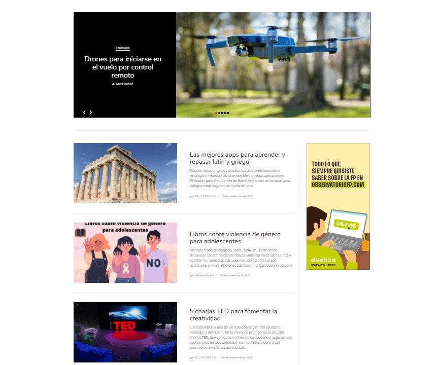 nueva web EDUCACIÓN 3.0
