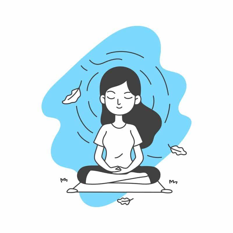 consciencia respiración ejercicios meditación estudiantes