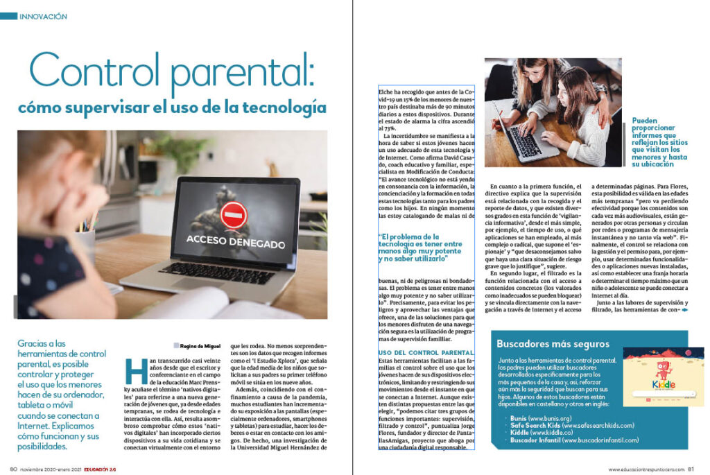 Control parental. EDUCACIÓN 3.0 cumple 10 años