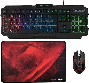 Mars gaming pack teclado alfombrilla y ratón ergonómico black friday gamers