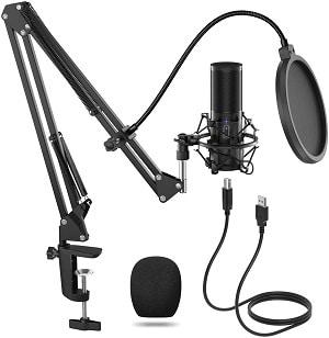 micrófono para podcast Tonor Q9
