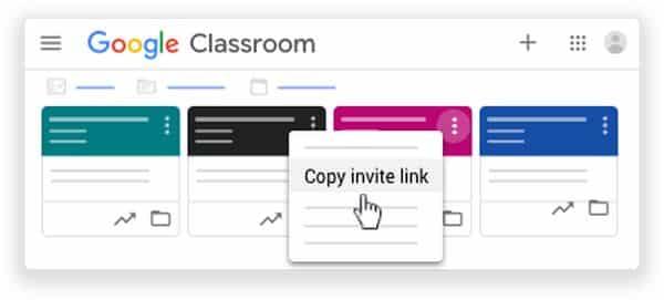 Google Classroom invitar a los estudiantes