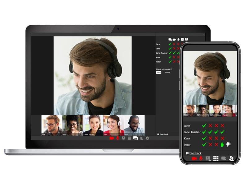 videoconferencia con CAE herramientas e-learning