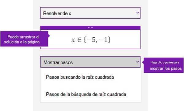 ecuación OneNote