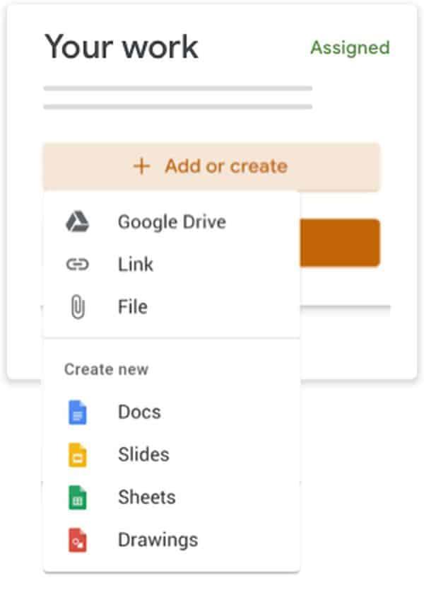Google Classroom entregar tarea estudiantes