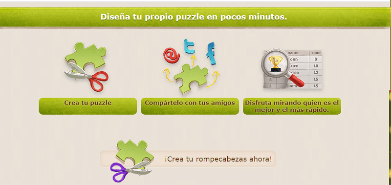 Puzzles junior para crear puzzles educativos
