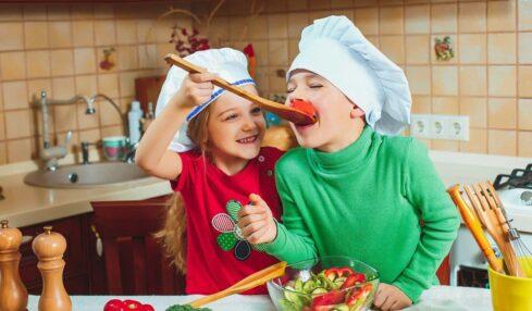 recetas invernales niños cocinando