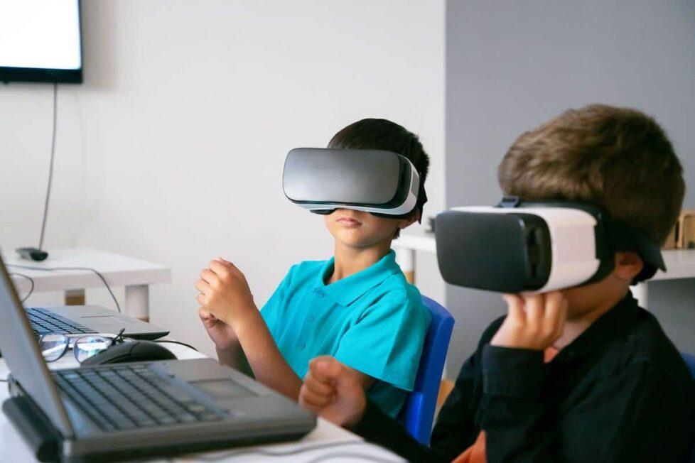gafas de realidad virtual en el aula