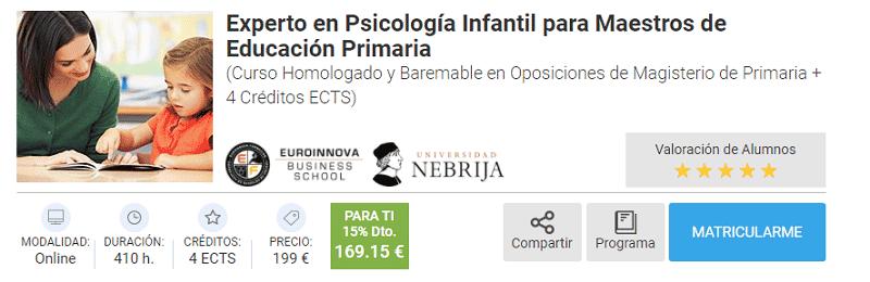 Experto en Psicología Infantil