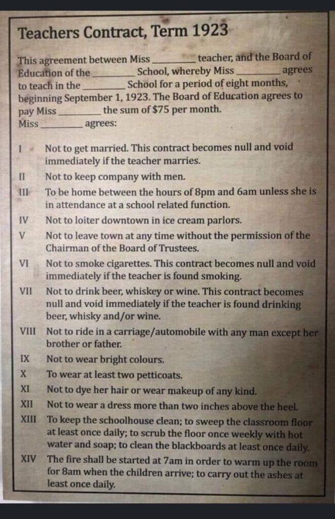 Teacher contract 1