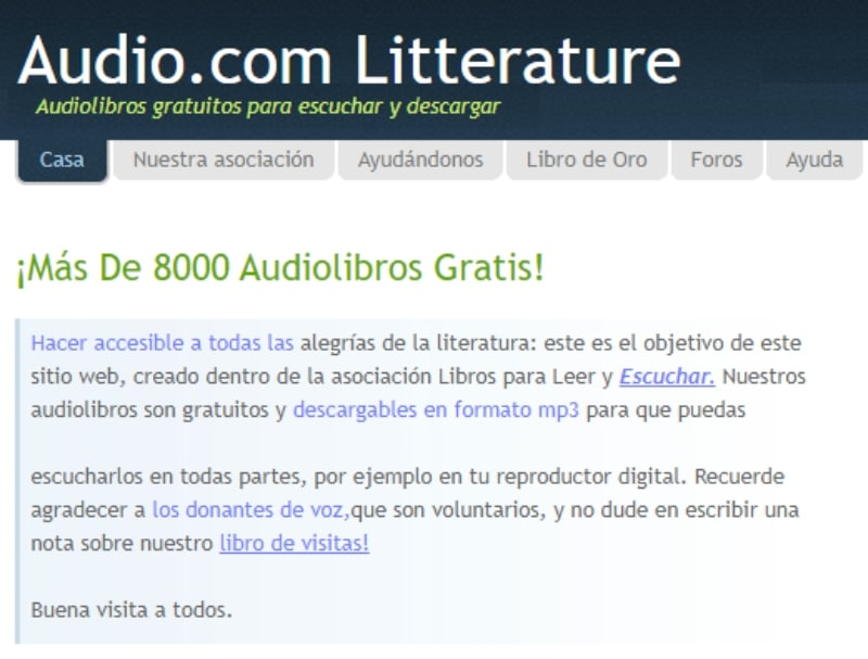 Litterature Audio