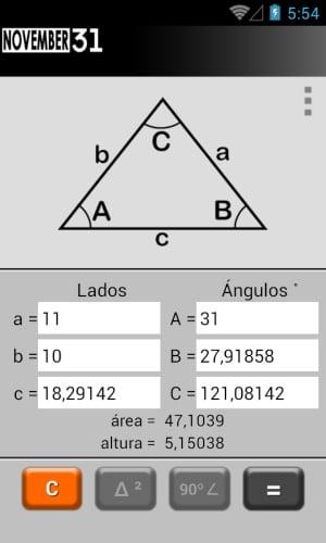 Triángulo Calculadora