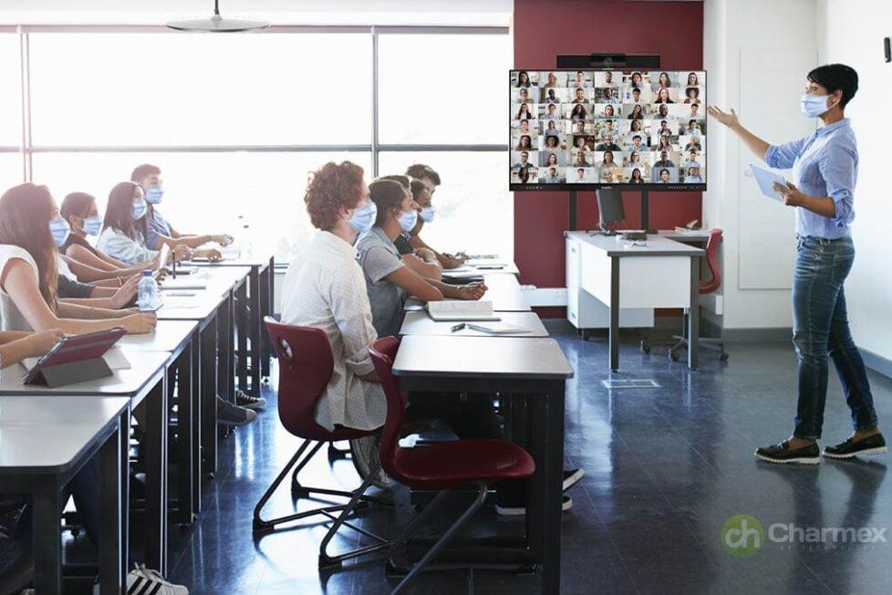 Solución integrada de Charmex que potencia la enseñanza remota y semipresencial