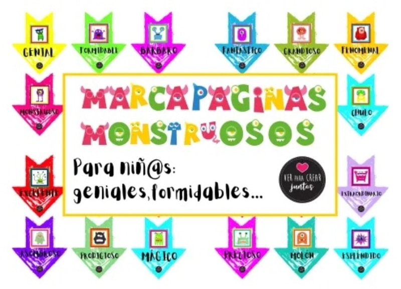 Marcapáginas monstruosos