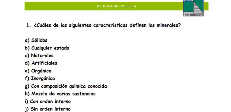 Ficha minerales