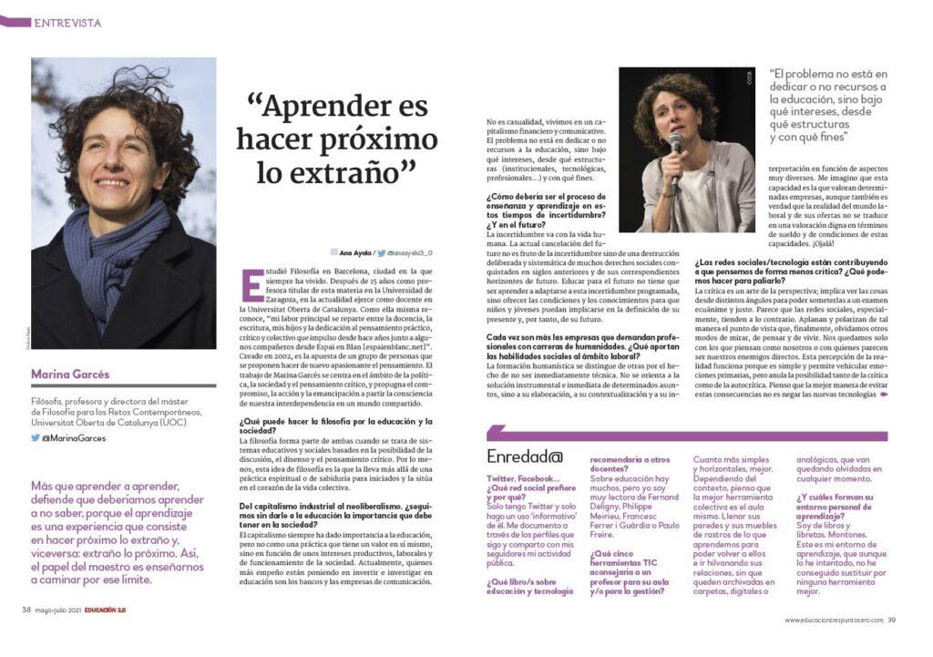 Entrevista Marina Garcés