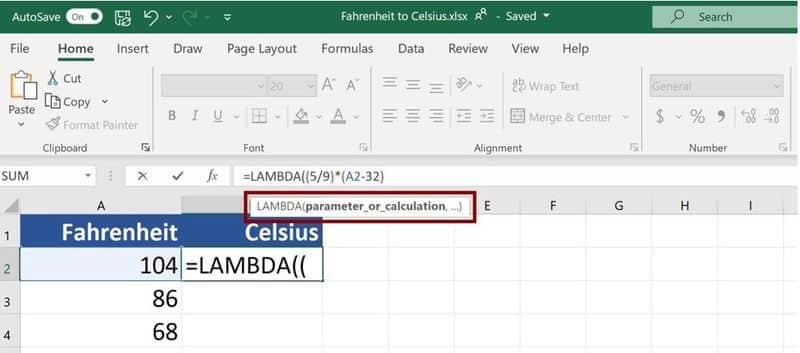 LAMBDA funciones en Microsoft Excel