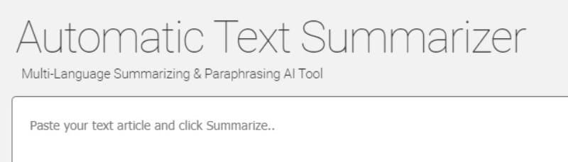 Text Summarizer