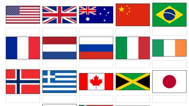 Aprender banderas del mundo