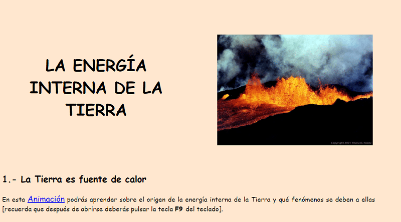 La energía interna de la Tierra Geología