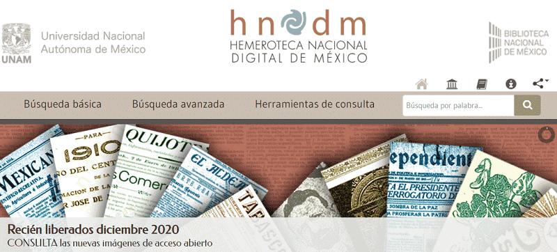 Hemeroteca Nacional Digital de México