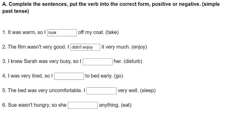 Ficha tiempos verbaless grammar bank