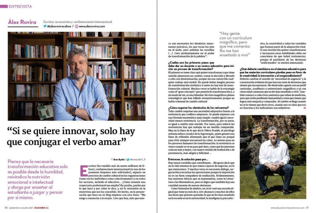 Álex Rovira 43 revista EDUCACIÓN 3.0