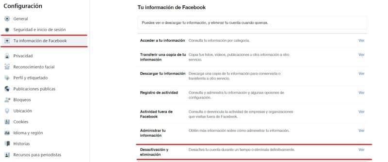 Cómo borrar una cuenta de Facebook