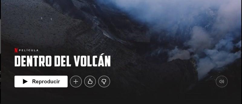 Dentro del volcán
