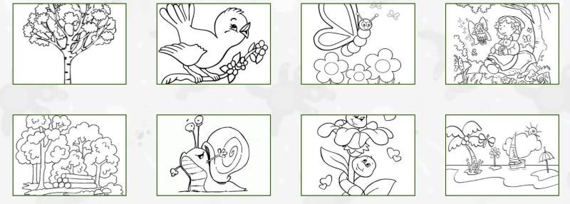 Dibujos para colorear sobre naturaleza