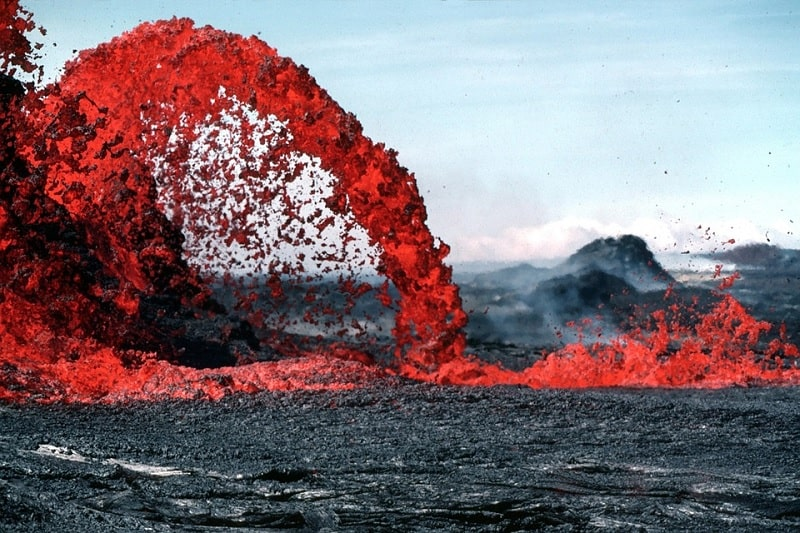 Lava volcán casero