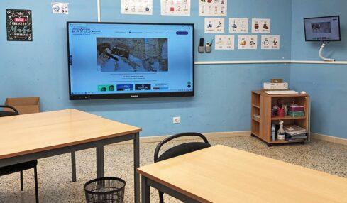 inglés interactivo con monitores