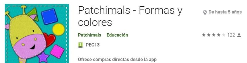 Patchimals aplicaciones psicomotricidad fina
